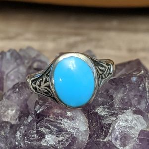 VTG STerling Silver Sleeping Beauty Turquoise Ring